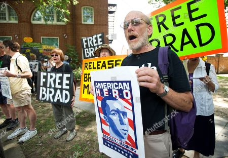 Robert Hanson Robert Hanson, right, joins supporters of U.S. Army Pfc. Bradley Manning, during a rally outside Fort Lesley J. McNair, in Washington, . Manning's fate was in the hands of a military judge Friday after nearly two months of conflicting portrayals of the soldier: a traitor who gave WikiLeaks classified secrets for worldwide attention and a young, naive intelligence analyst who wanted people to know about the atrocities of war