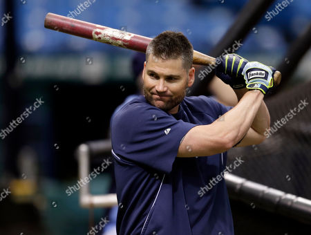 Luke Scott Tampa Bay Rays' Luke Scott gets loose before hitting in the batting cage before a baseball game against the Seattle Mariners, in St. Petersburg, Fla