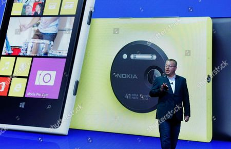 Nokia Lumia 1020, Stephen Elop Then Nokia CEO Stephen Elop desicribes the company's Nokia Lumia 1020, in New York. On, as part of an announcement to cut up to 18,000 jobs over the next year, Microsoft said it would discontinue its Nokia X phones and shift future product designs to its Lumia line of Windows phones