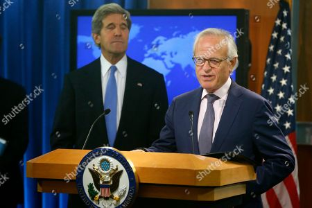 John Kerry, Martin Indyk Secretary of State John Kerry listens as former U.S. Ambassador to Israel Martin Indyk speaks at the State Department in Washington, where Kerry announced that he Indyk will shepherd the Israeli-Palestinian peace talks