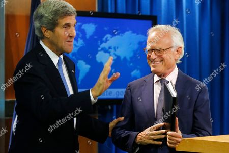 John Kerry, Martin Indyk Secretary of State John Kerry stands with former U.S. Ambassador to Israel Martin Indyk at the State Department in Washington, as he announces that he Indyk will shepherd the Israeli-Palestinian peace talks