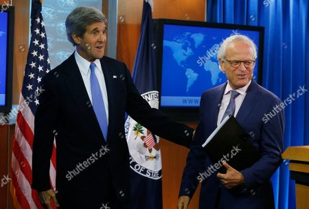 John Kerry, Martin Indyk Secretary of State John Kerry stands with former U.S. Ambassador to Israel Martin Indyk at the State Department as he announces that Indyk will shepherd the Israeli-Palestinian peace talks beginning in Washington