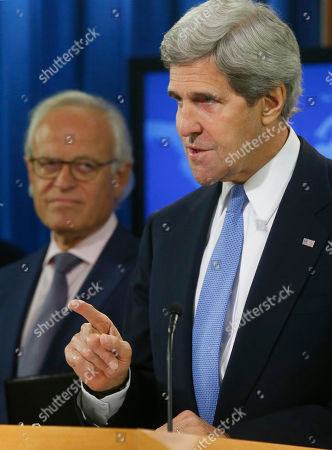 John Kerry, Martin Indyk Secretary of State John Kerry stands with former U.S. Ambassador to Israel Martin Indyk at the State Department as he announces that he Indyk will shepherd the Israeli-Palestinian peace talks beginning in Washington