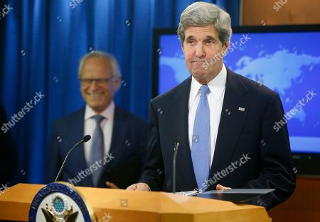 John Kerry, Martin Indyk Secretary of State John Kerry arrives with former U.S. Ambassador to Israel Martin Indyk at the State Department as he announces that Indyk will shepherd the Israeli Palestinian peace talks beginning in Washington