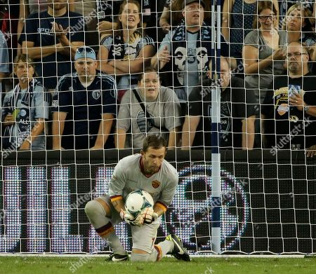 Bogdan Lobont AS Roma goalkeeper Bogdan Lobont (1) prevents a goal by the MLS All-Stars during the second half of the MLS soccer All-Star game, in Kansas City, Kan. AS Roma won the game 3-1