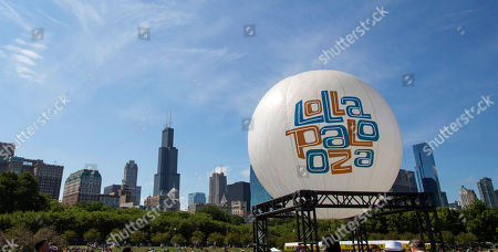 Editorial picture of Music-Festival Site, Chicago, USA
