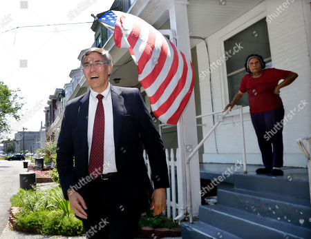 Rush Holt Graph, Senate candidate Rep. Rush Holt walks away after greeting Anna Harvey, 82, outside her home in Trenton, N.J. Holt, a rocket scientist by training, has been trying to reach voters not only by traditional diner visits but also through wonky online videos
