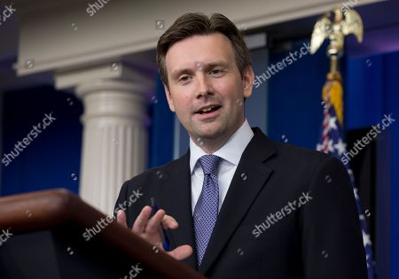 Josh Earnest White House principal deputy press secretary Josh Earnest speaks during the daily news briefing at the White House, in Washington. Mideast peace talks that are starting in Washington, and the turmoil in the Middle East were among the topics Earnest discussed