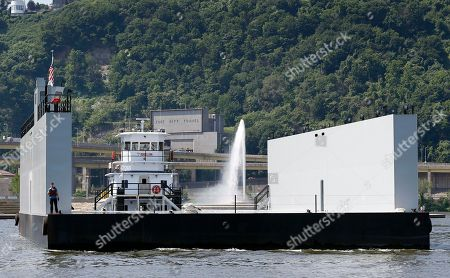 Editorial image of Portable Drydock Arrives, Pittsburgh, USA