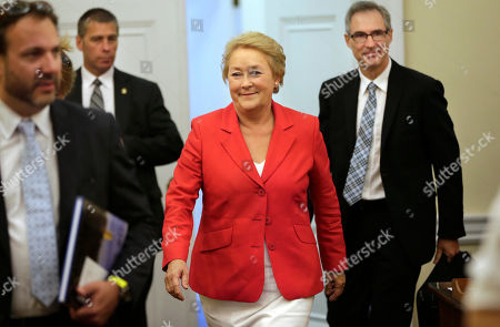 Pauline Marois Quebec Premier Pauline Marois, center, departs the office of Massachusetts Gov. Deval Patrick after meeting with Patrick at the Statehouse, in Boston, . The leader of Canada's second largest province is on a swing through New England during which she is also visiting the governors of Rhode Island, New Hampshire and Connecticut