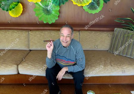 "Sam Simon, co-creator of ""The Simpsons,"" at his home in Pacific Palisades, Calif. Authorities are asking the public's help in finding two paintings - one of them by famed American Roy Lichtenstein - that were stolen from a Malibu foundation established by Simon, the late co-creator of ""The Simpsons."" They were reported stolen from the Sam Simon Foundation. Simon was 59 when he died in March from cancer"
