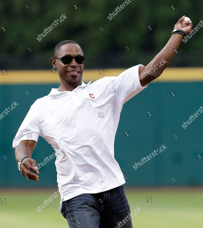 Kenny Lofton Former Cleveland Indians' Kenny Lofton throws out the ceremonial first pitch before the Indians play against the Minnesota Twins in a baseball game, in Cleveland
