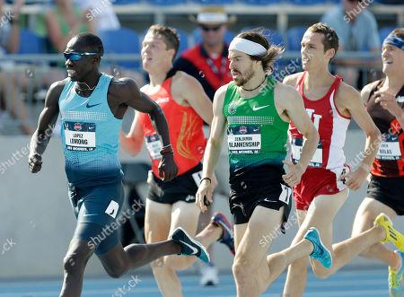Lopez Lomong, Benjamin Blankenship Lopez Lomong, left, leads Benjamin Blankenship, right, during their senior men's 1500-meter run heat at the U.S. Championships athletics meet, in Des Moines, Iowa