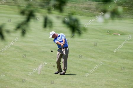 Corey Pavin Corey Pavin drives on the fourth hole fairway, in the final round of the U.S. Senior Open golf tournament in Omaha, Neb