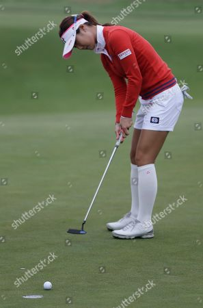 Ha Neul Kim Ha-Neul Kim, of South Korea, makes a putt on the first hole during the second round of the U.S. Women's Open golf tournament at the Sebonack Golf Club, in Southampton, N.Y