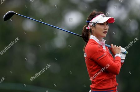 Ha Neul Kim Ha Neul Kim, of South Korea, tees off on the second hole during the second round of the U.S. Women's Open golf tournament at the Sebonack Golf Club, in Southampton, N.Y