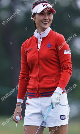 Ha Neul Kim Ha Neul Kim, of South Korea, smiles before hitting a tee shot on the second hole during the second round of the U.S. Women's Open golf tournament at the Sebonack Golf Club, in Southampton, N.Y