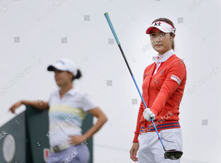 Ha-Neul Kim Ha-Neul Kim of South Korea waits to tee off on the first hole during the second round at the U.S. Women's Open golf tournament at Sebonack Golf Club in Southampton, N.Y