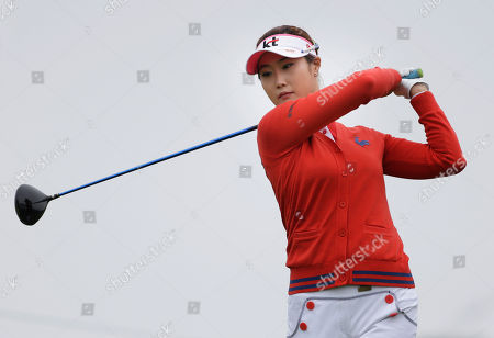 Ha-Neul Kim Ha-Neul Kim of South Korea takes practice swings while waiting to tee off the first hole during the second round at the U.S. Women's Open golf tournament at Sebonack Golf Club in Southampton, N.Y