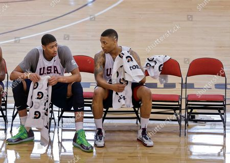 Damian Lillard, Anthony Davis Portland Trail Blazers guard Damian Lillard, right, talks with New Orleans Pelicans forward Anthony Davis during a USA Basketball minicamp practice, in Las Vegas. Twenty-eight of the best young players in the country are in Las Vegas for four days of workouts that essentially mark the kickoff of 2016 Olympic preparations. Davis is the only player in camp with Olympic experience