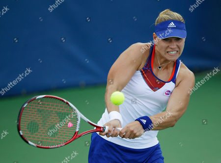Angelique Kerber Angelique Kerber, from Germany, hits the ball during her match against Melanie Oudin, of the United States, at the Citi Open tennis tournament in Washington