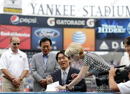 Editorial photo of Yankees Baseball Matsui Retirement, New York, USA
