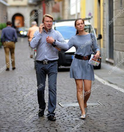 Mika Hakkinen and Marketa Remesova