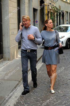 Stock Picture of Mika Hakkinen and Marketa Remesova