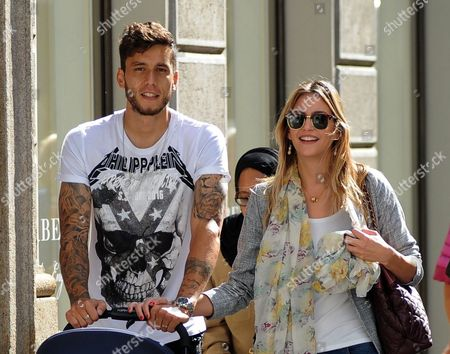 Editorial image of Ricky Alvarez and family out and about, Milan, Italy - 04 Oct 2016