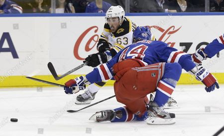 Editorial photo of Bruins Rangers Hockey, New York, USA