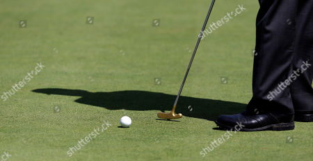 Corey Pavin Corey Pavin putts on the 18th green during the first round of the Champions Tour's Principal Charity Classic golf tournament, in Des Moines, Iowa
