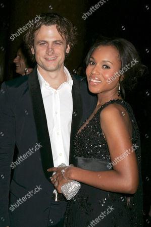 David Moscow and fiance Kerry Washington