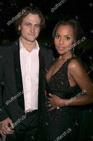 Stock Image of David Moscow and fiance Kerry Washington