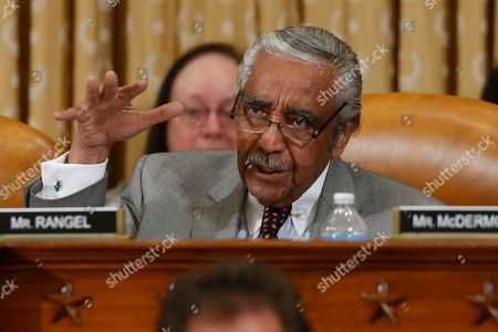 Stock Photo of Charles Rangel Rep. Charles B. Rangel, D-N.Y., questions ousted IRS Chief Steve Miller and J. Russell George, Treasury Inspector General for Tax Administration, testify during a hearing at the House Ways and Means Committee on the Internal Revenue Service (IRS) practice of targeting applicants for tax-exempt status based on political leanings on Capitol Hill, in Washington