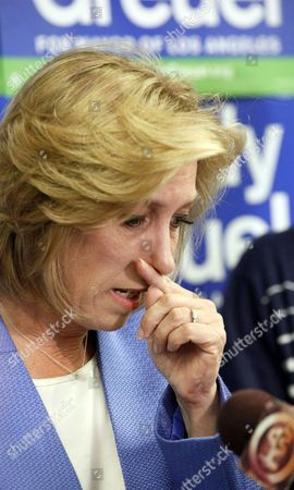 Wendy Greuel Mayoral candidate Wendy Greuel becomes emotional during a news conference in Los Angeles where she discussed her loss to Eric Garcetti in the Los Angeles Mayor's race