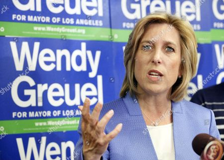 Wendy Greuel Mayoral candidate Wendy Greuel speaks during a news conference in Los Angeles where she discussed her loss to Eric Garcetti in the Los Angeles Mayor's race