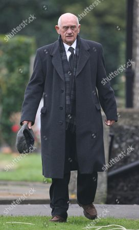 John Bardon attending the funeral of Pauline Fowler