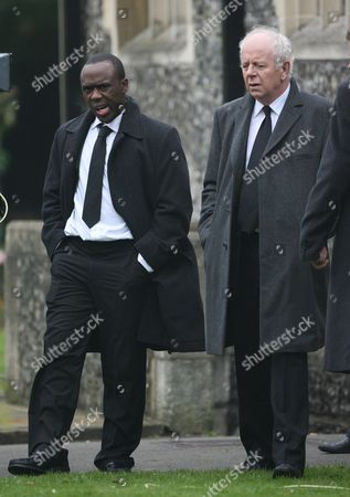 Mohammed George and Ray Brooks attending the funeral of Pauline Fowler