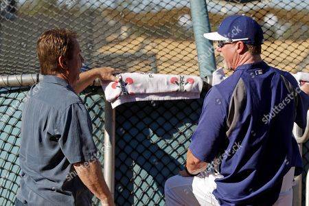Ron Cey, Mark McGwire Former Dodger Ron Cey and batting coach Mark McGwire before a baseball game between the Los Angeles Dodgers and the Washington Nationals in Los Angeles