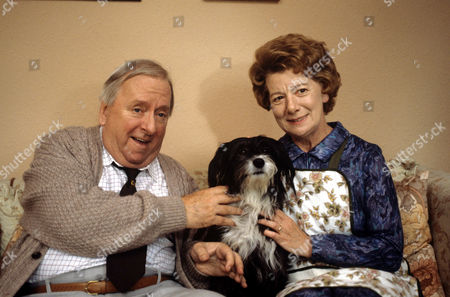 Hugh Lloyd and Jean Alexander with Pippin the Dog, in 'Woof' - 1988