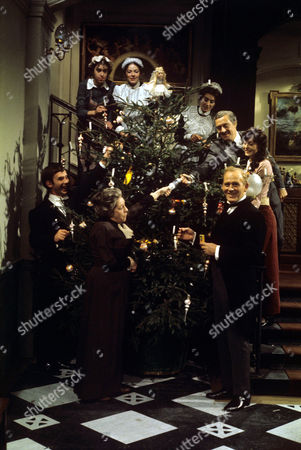 The Cast from 'Upstairs Downstairs' - 1973 From the Episode, 'Goodwill to all Men' - Christopher Beeny, Angela Baddely, Gordon Jackson, David Langton and Jean Marsh