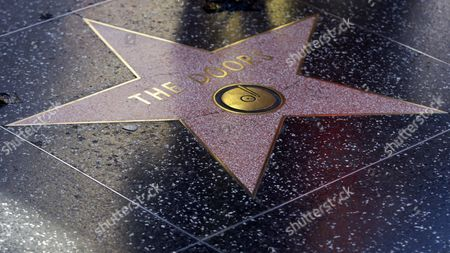 Stock Image of The Doors' Hollywood Walk of Fame star is seen in Los Angeles . Ray Manzarek, the keyboardist and founding member of The Doors who had a dramatic impact on rock 'n' roll, has died. He was 74