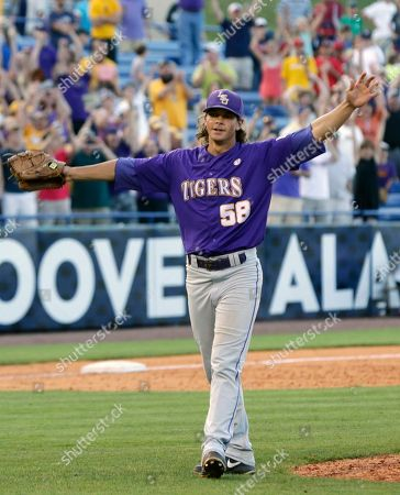 Chris Cotton LSU's Chris Cotton reacts at the end of an 11 inning win over Vanderbilt in the Southeastern Conference tournament championship NCAA college baseball game at the Hoover Met in Hoover, Ala., . LSU defeated Vanderbilt 5-4 in 11 innings. Cotton was named the tournament's Most Valuable Player