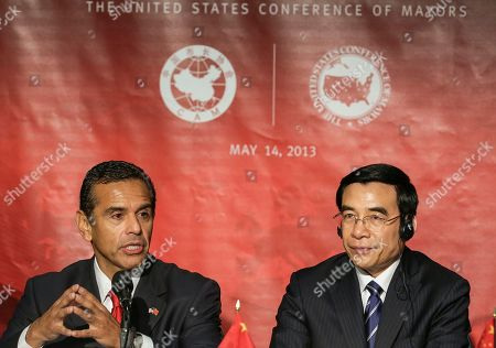 Antonio Villaraigosa, Wang Anshun Los Angeles Mayor Antonio Villaraigosa, left, and Beijing Mayor Wang Anshun attend the seventh annual Sino-U.S. Mayors Summit in Los Angeles . The United States Conference of Mayors (USCM), the Chinese Association of Mayors (CAM), China Center for International Economic Exchanges and the Paulson Institute are co-hosting the one-day summit to discuss two-way trade and investment opportunities between China and the United States