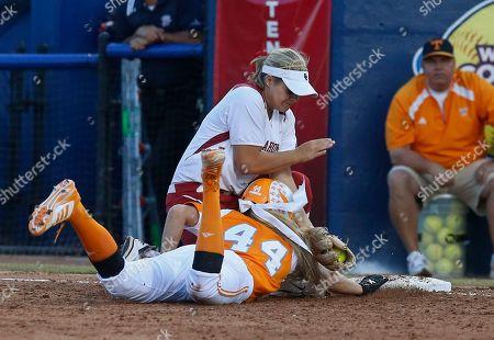 Editorial photo of WCWS Tennessee Oklahoma Softball, Oklahoma City, USA