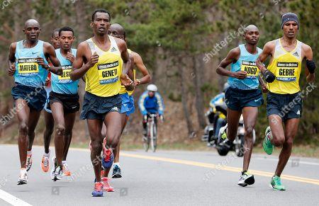 Editorial photo of Boston Marathon, Wellesley, USA