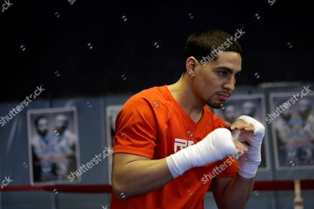 Danny Garcia Boxer Danny Garcia practices during a workout for the media, in Philadelphia. Garcia is scheduled to fight Zab Judah on April 27 in New York