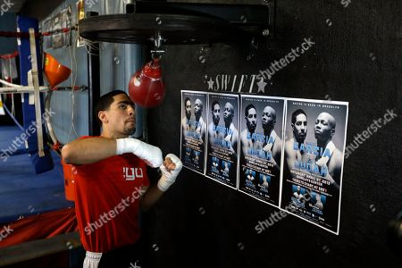 Danny Garcia Boxer Danny Garcia practices during a media workout, in Philadelphia. Garcia is schedule to fight Zab Judah on April 27 in New York