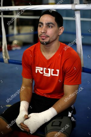 Danny Garcia Boxer Danny Garcia speaks to members of the media during a workout, in Philadelphia. Garcia is schedule to fight Zab Judah on April 27 in New York