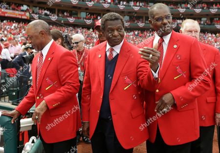 Ozzie Smith, Lou Brock, Bob Gibson Former St. Louis Cardinals Ozzie Smith, Lou Brock and Bob Gibson are shown before the start of a baseball game between the Cardinals and Cincinnati Reds, in St. Louis. Cardinals Hall of Famer Lou Brock, a former base stealing champion, has had his left leg amputated below the knee due to an infection related to diabetes. The Cardinals and a longtime friend and business associate confirmed that the 76-year-old Brock had had the procedure done